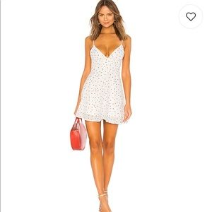 Revolve sienna polka dot dress